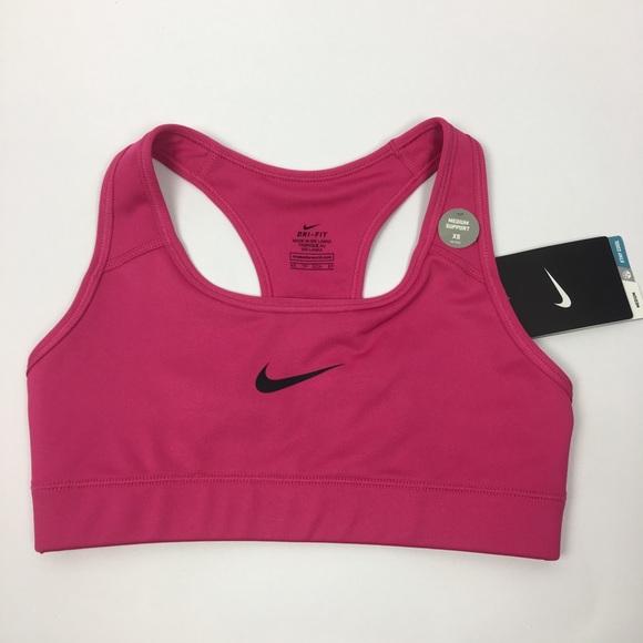 d01d883b169f4 Nike Victory Compression Sports Bra Pink Black XS